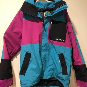 Burton Retro Jacket - Teal Pink.